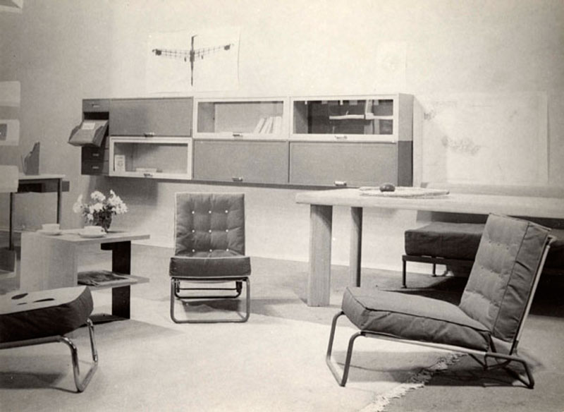mobiliario diseñado por charlotte perriand