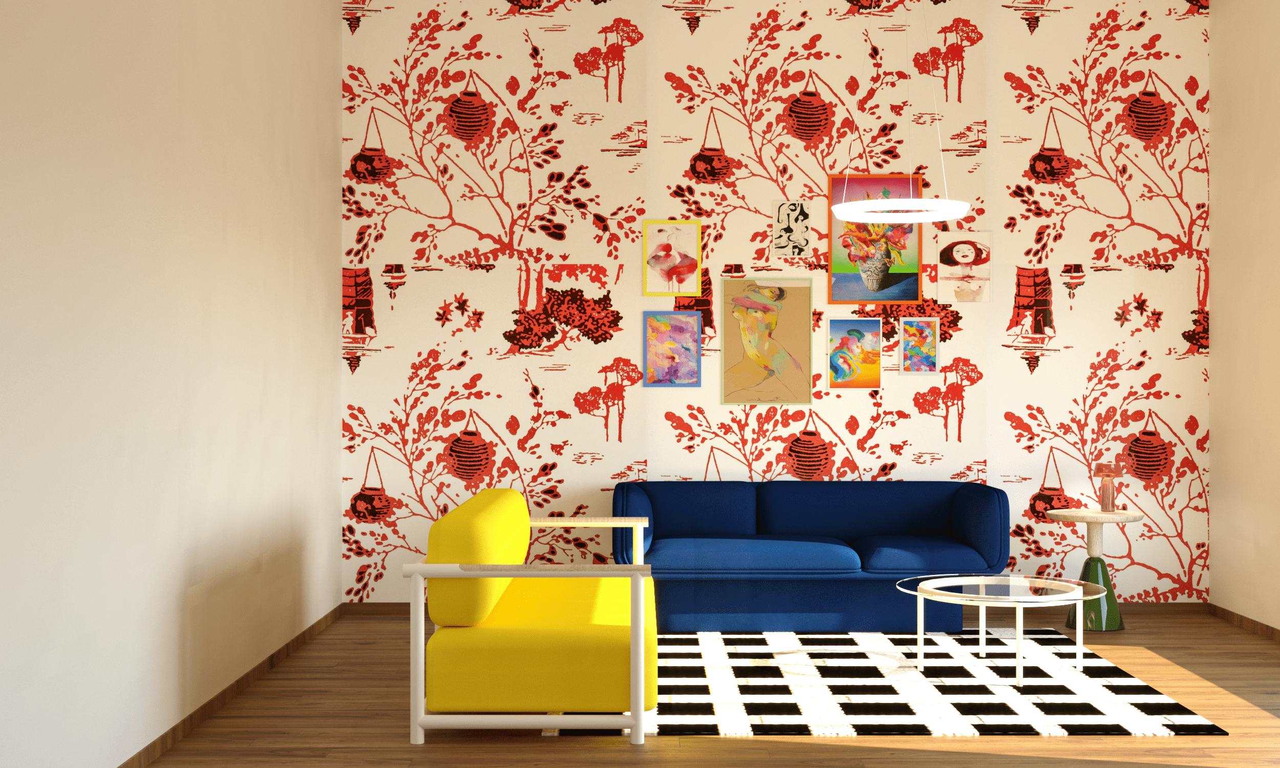 salón con diseño español